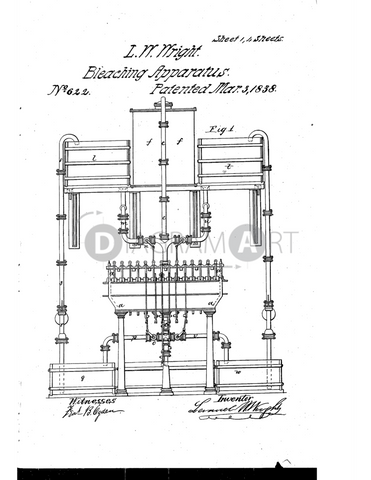 USPTO Patent_0000622 , Free Sketch - Diagramart Author, DiagramArt