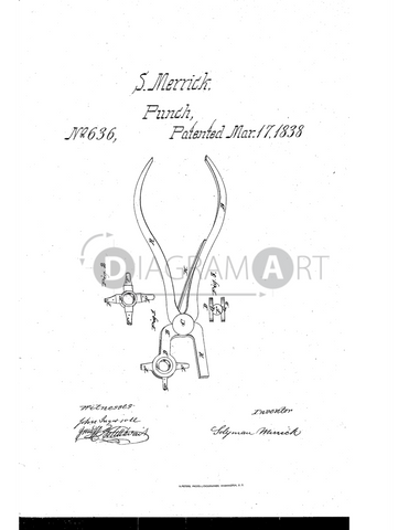 USPTO Patent_0000636 , Free Sketch - Diagramart Author, DiagramArt