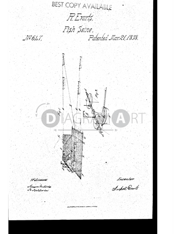 USPTO Patent_0000647 , Free Sketch - Diagramart Author, DiagramArt