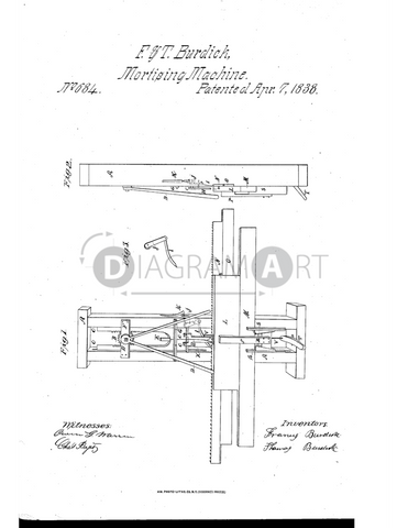 USPTO Patent_0000684 , Free Sketch - Diagramart Author, DiagramArt