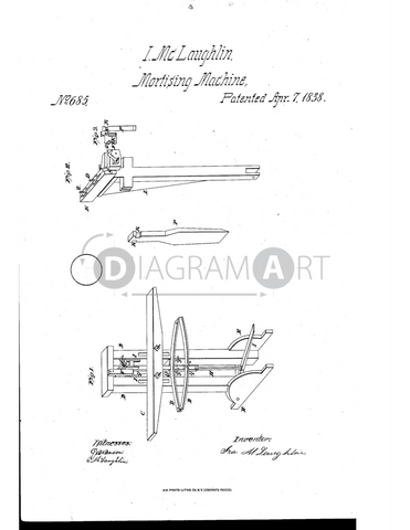 USPTO Patent_0000685 , Free Sketch - Diagramart Author, DiagramArt