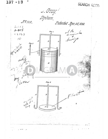 USPTO Patent_0000712 , Free Sketch - Diagramart Author, DiagramArt