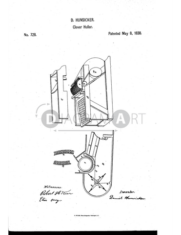 USPTO Patent_0000728 , Free Sketch - Diagramart Author, DiagramArt