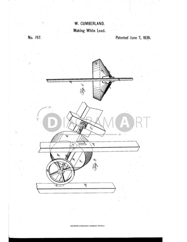 USPTO Patent_0000767 , Free Sketch - Diagramart Author, DiagramArt