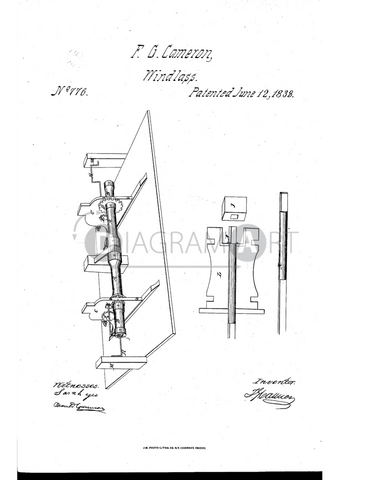 USPTO Patent_0000776 , Free Sketch - Diagramart Author, DiagramArt