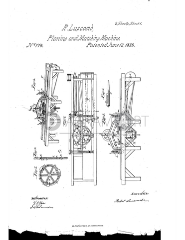 USPTO Patent_0000779 , Free Sketch - Diagramart Author, DiagramArt