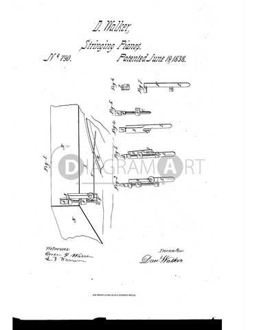 USPTO Patent_0000790 , Free Sketch - Diagramart Author, DiagramArt