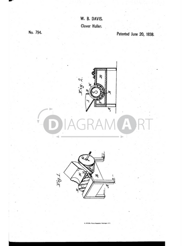 USPTO Patent_0000794 , Free Sketch - Diagramart Author, DiagramArt