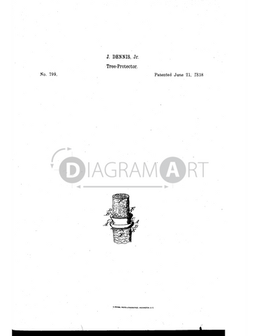 USPTO Patent_0000799 , Free Sketch - Diagramart Author, DiagramArt