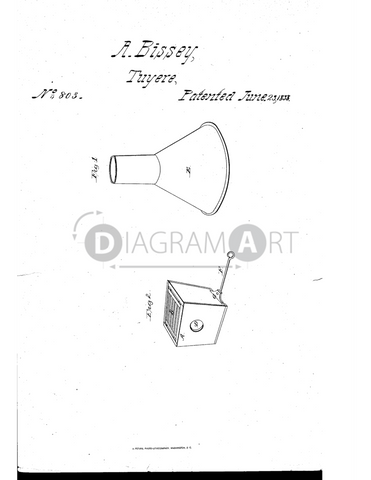 USPTO Patent_0000803 , Free Sketch - Diagramart Author, DiagramArt