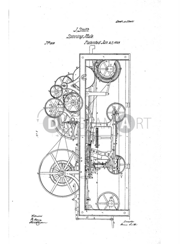 USPTO Patent_0000808 , Free Sketch - Diagramart Author, DiagramArt