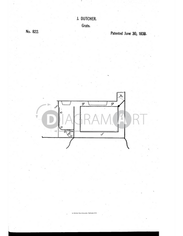 USPTO Patent_0000822 , Free Sketch - Diagramart Author, DiagramArt