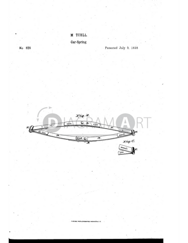 USPTO Patent_0000828 , Free Sketch - Diagramart Author, DiagramArt