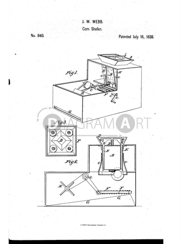 USPTO Patent_0000840 , Free Sketch - Diagramart Author, DiagramArt