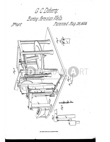 USPTO Patent_0000897 , Free Sketch - Diagramart Author, DiagramArt
