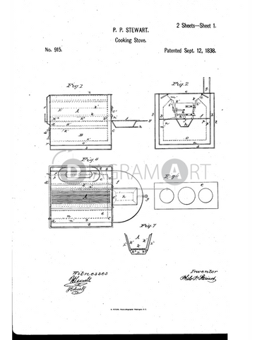 USPTO Patent_0000915 , Free Sketch - Diagramart Author, DiagramArt
