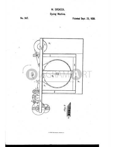 USPTO Patent_0000947 , Free Sketch - Diagramart Author, DiagramArt