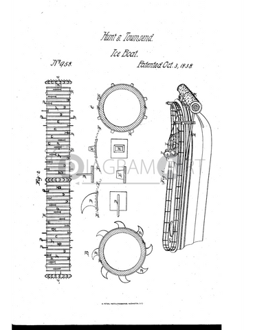 USPTO Patent_0000958 , Free Sketch - Diagramart Author, DiagramArt