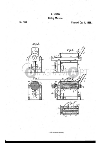 USPTO Patent_0000968 , Free Sketch - Diagramart Author, DiagramArt