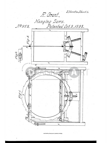 USPTO Patent_0000973 , Free Sketch - Diagramart Author, DiagramArt