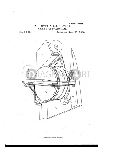 USPTO Patent_0001020 , Free Sketch - Diagramart Author, DiagramArt