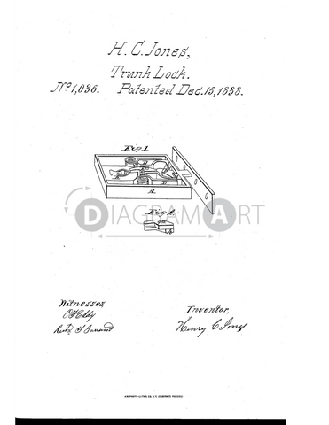 USPTO Patent_0001036 , Free Sketch - Diagramart Author, DiagramArt