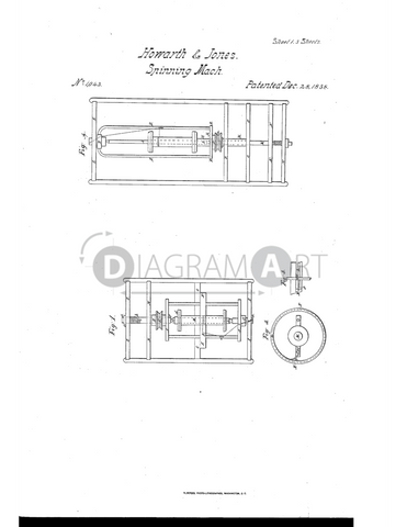 USPTO Patent_0001043 , Free Sketch - Diagramart Author, DiagramArt