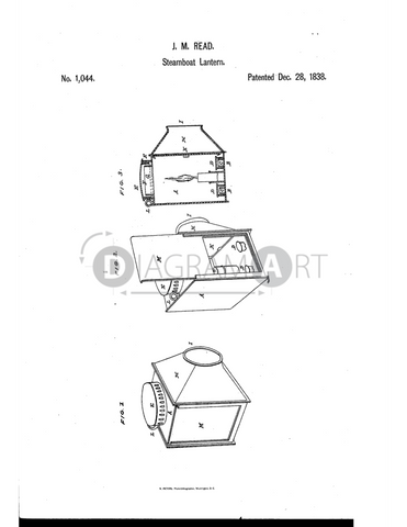 USPTO Patent_0001044 , Free Sketch - Diagramart Author, DiagramArt