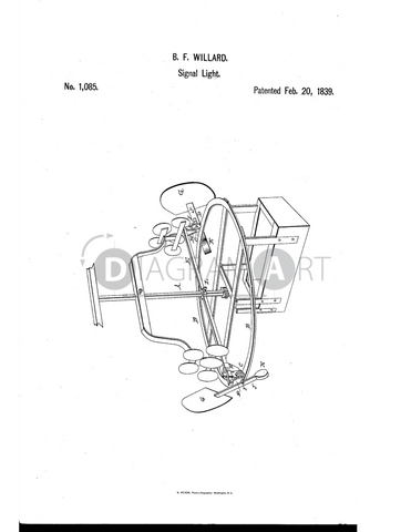 USPTO Patent_0001085 , Free Sketch - Diagramart Author, DiagramArt