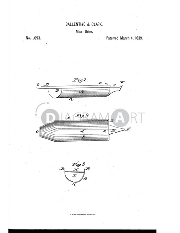USPTO Patent_0001093 , Free Sketch - Diagramart Author, DiagramArt