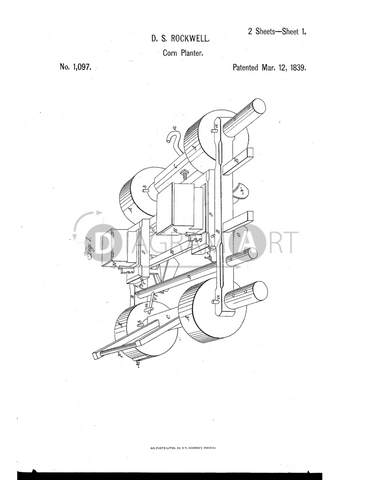USPTO Patent_0001097 , Free Sketch - Diagramart Author, DiagramArt
