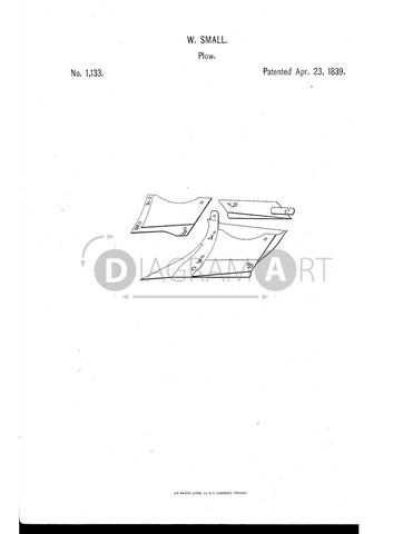 USPTO Patent_0001133 , Free Sketch - Diagramart Author, DiagramArt