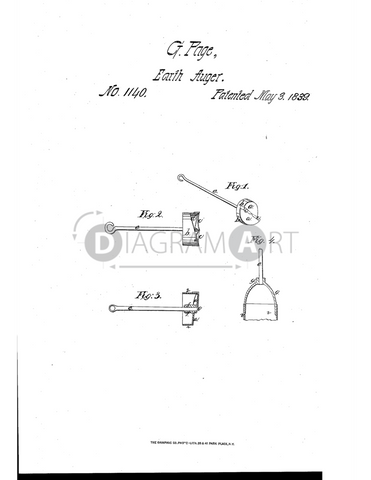 USPTO Patent_0001140 , Free Sketch - Diagramart Author, DiagramArt
