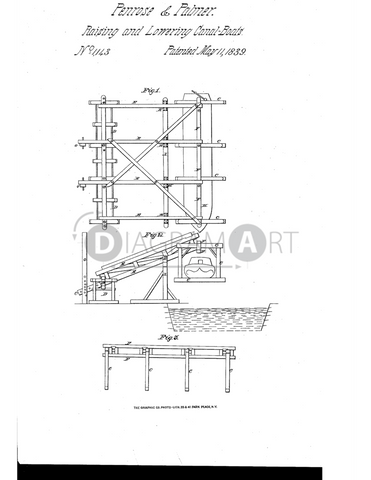 USPTO Patent_0001143 , Free Sketch - Diagramart Author, DiagramArt