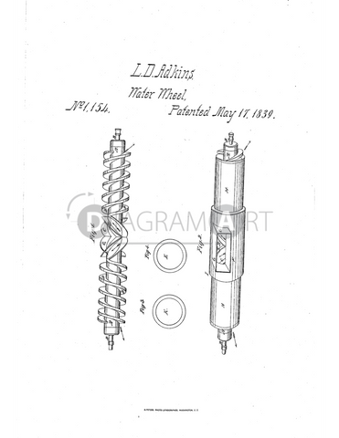 USPTO Patent_0001154 , Free Sketch - Diagramart Author, DiagramArt