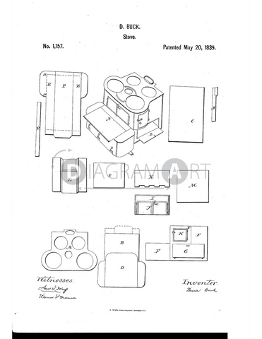 USPTO Patent_0001157 , Free Sketch - Diagramart Author, DiagramArt