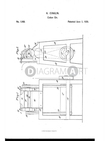 USPTO Patent_0001168 , Free Sketch - Diagramart Author, DiagramArt