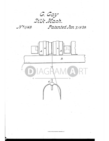 USPTO Patent_0001169 , Free Sketch - Diagramart Author, DiagramArt