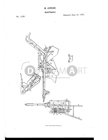USPTO Patent_0001188 , Free Sketch - Diagramart Author, DiagramArt