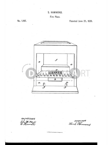 USPTO Patent_0001197 , Free Sketch - Diagramart Author, DiagramArt