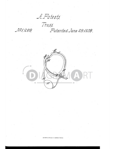 USPTO Patent_0001209 , Free Sketch - Diagramart Author, DiagramArt