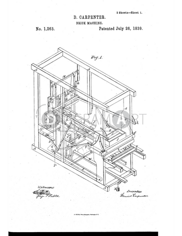 USPTO Patent_0001263 , Free Sketch - Diagramart Author, DiagramArt