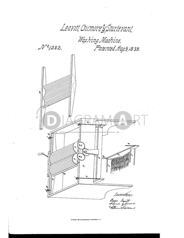USPTO Patent_0001282 , Free Sketch - Diagramart Author, DiagramArt