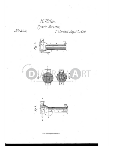 USPTO Patent_0001292 , Free Sketch - Diagramart Author, DiagramArt