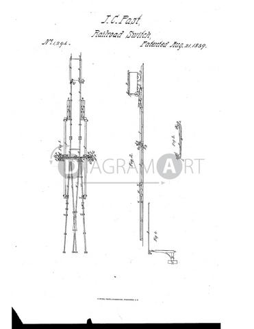 USPTO Patent_0001294 , Free Sketch - Diagramart Author, DiagramArt