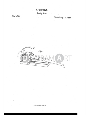 USPTO Patent_0001296 , Free Sketch - Diagramart Author, DiagramArt