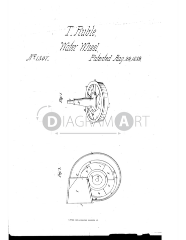 USPTO Patent_0001307 , Free Sketch - Diagramart Author, DiagramArt