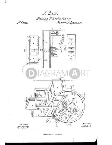 USPTO Patent_0001332 , Free Sketch - Diagramart Author, DiagramArt