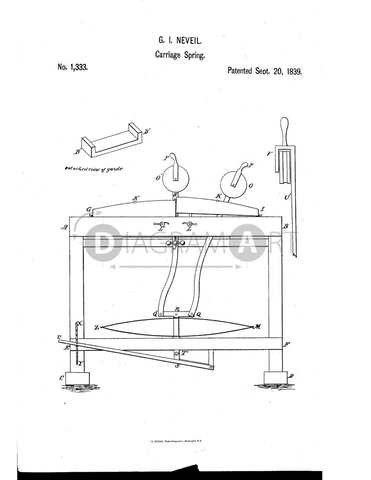 USPTO Patent_0001333 , Free Sketch - Diagramart Author, DiagramArt