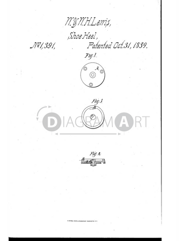 USPTO Patent_0001391 , Free Sketch - Diagramart Author, DiagramArt